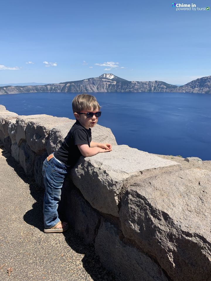 Allison Olson shared photos from a July 7, 2019, trip to Crater Lake National Park via the Chime In tab on our website.{ }IF YOU GO: Share your best Crater Lake videos and photos via Chime In so we can share them online and on TV!