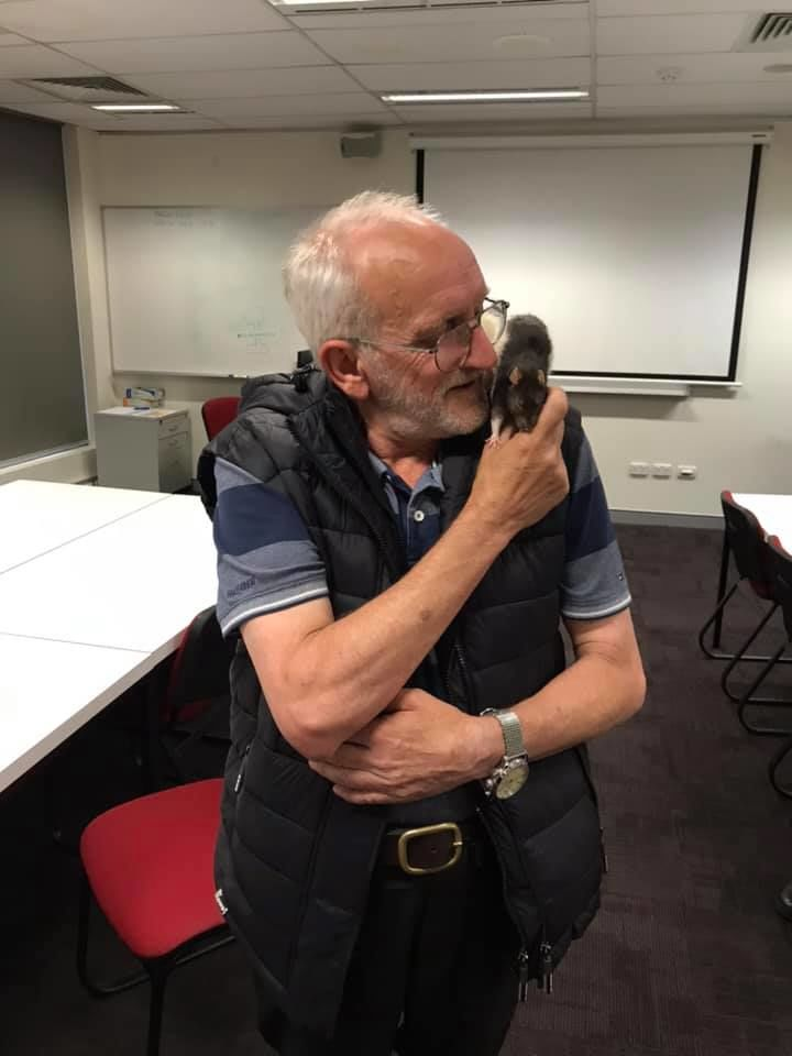 A homeless man in Australia was reunited with his pet rat on Thursday with the help of local police after the story of his missing rat went viral. (Photo: New South Wales Police Force)