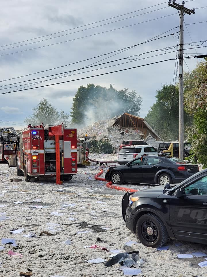 Farmington Explosion (Jacob Gage via WGME)
