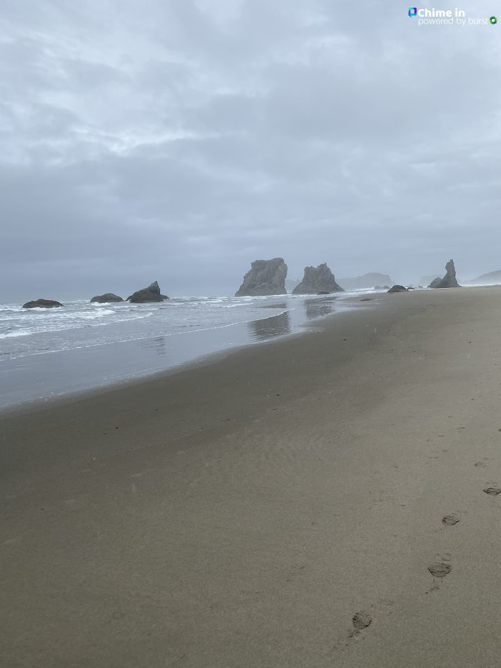 Tricia Love shared this photo of fall weather on the Oregon Coast via the CHIME IN tab on our website.