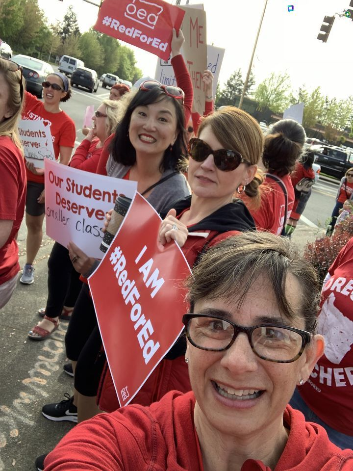 'Red for Ed day of action in Beaverton' - April Schmietenknop.