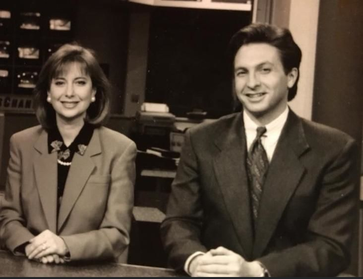Kim Block and Jeff Peterson in 1992 (WGME)