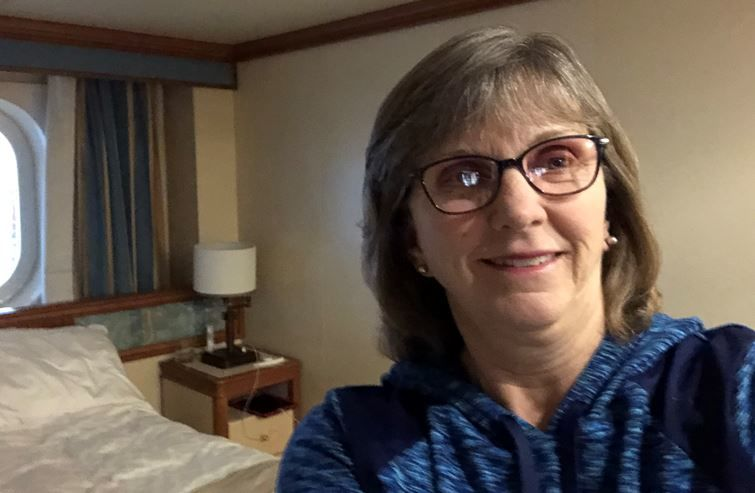 Wanda Schuler of Red Bluff is quarantined on the Diamond Princess cruise ship (photo courtesy Wanda Schuler)<p></p>