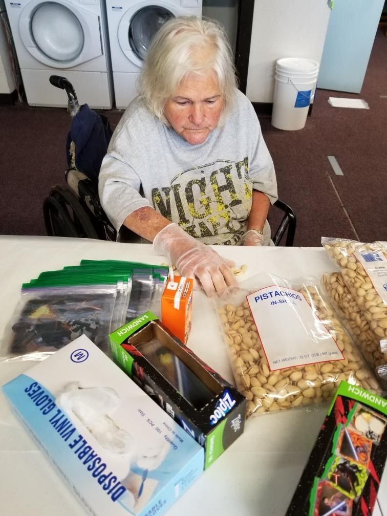 Georgette Brassel, an elderly, homeless Coos Bay woman,  has found housing thanks to community support. (Photo courtesy Tara Johnson)