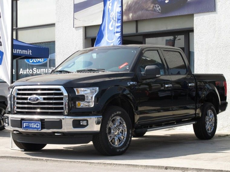 This is a stock photo of the black 2016-17 Ford F150 that Medford Police believe was stolen from Riverside Ave - not the actual car involved in the described crime.{ }