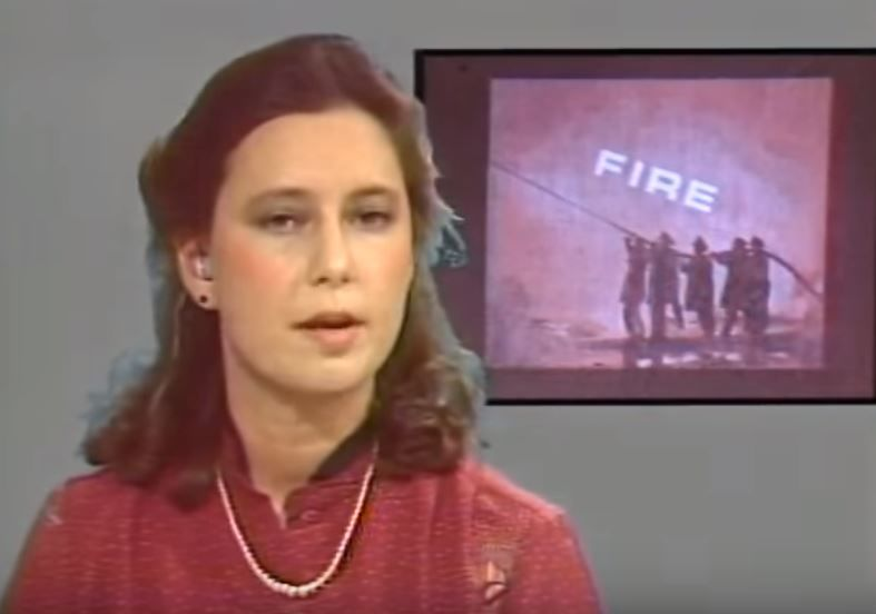 Kim Block's broadcast debut on January 5, 1981 (WGME)
