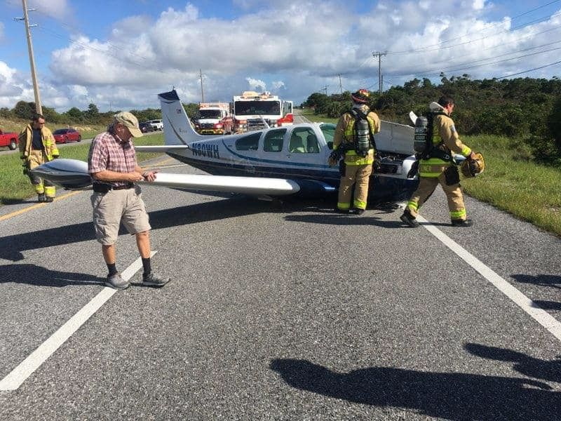 Small plane lands in middle of road in Hobe Sound. (Martin County Sheriff's Office)
