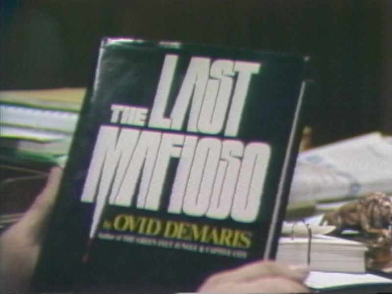 "Ovid Demaris' book ""The Last Mafioso"" detailed alleged connections between organized crime and prominent Las Vegas figures, including Frank Sinatra."