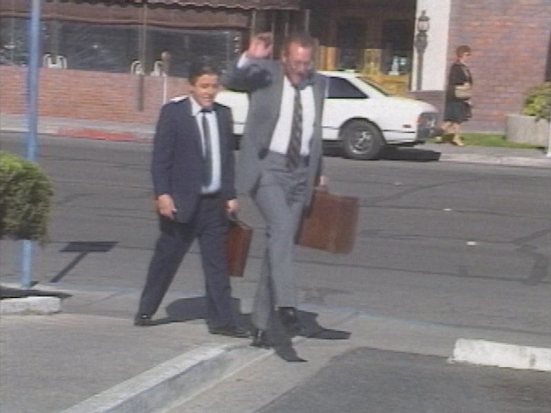Oscar Goodman, attorney for Anthony Spilotro, walks to the Foley Federal Building in Las Vegas.