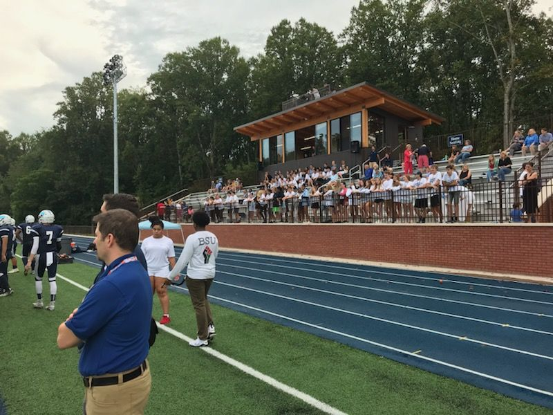 Winston SalemPrep vs. Asheville, 08-23-19 (Photo credit: WLOS Staff){ }