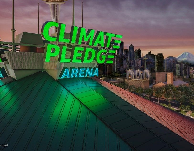 Amazon provided this image from the Climate Pledge Arena, the new name for the former KeyArena after the company secured the naming rights from NHL Seattle. (Photo: Courtesy)