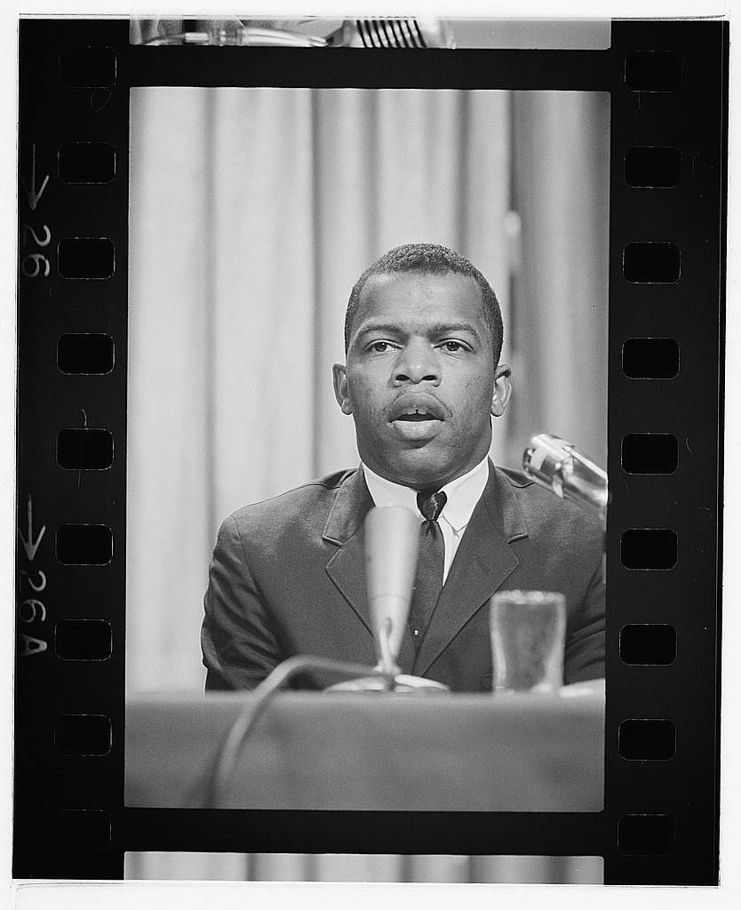 Freedom Rider and SNCC leader John Lewis speaks at a meeting of American Society of Newspaper Editors, Statler Hilton Hotel, Washington, D.C. Courtesy: Library of Congress