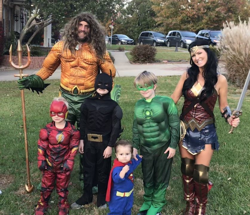 The is the stacey family from fort thomas Kentucky as the justice league. We have 4 boys, Connor, Ryan, jack and Lucas and love dressing up. Connor and Ryan go to Johnson elementary in fort thomas. It's our tradition every year!!!  - Sally Bean Stacey