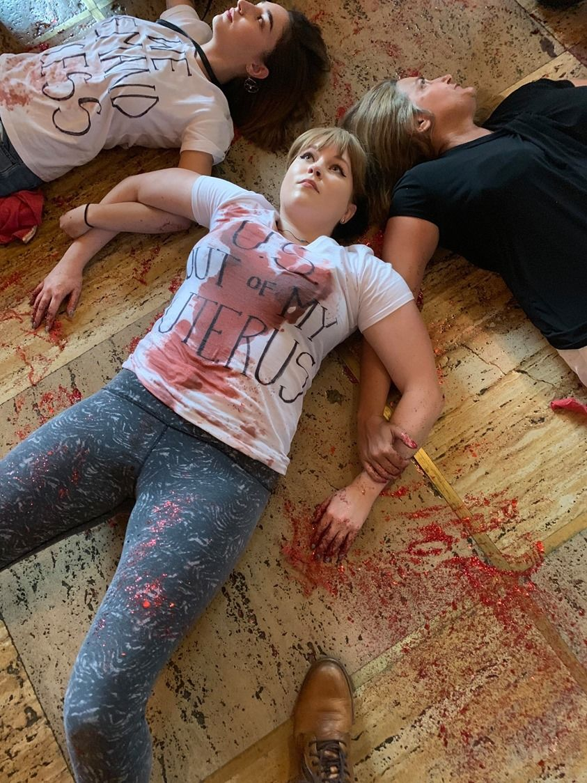 Protesters stage a 'die-in' over proposed abortion bill in Louisiana (Photo: New Orleans Abortion Fund via Storyful)