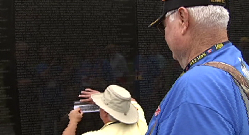 """I want to see the Vietnam wall of course. I don't know if i have any friends on it or not,"" Jim said. ""My wife has some school mates on the wall that we want to see."" (SBG)"