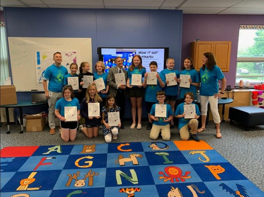 Students celebrated the impact with a presentation to families, teachers, administration, and friends.{ }(Photo: Webster CSD)