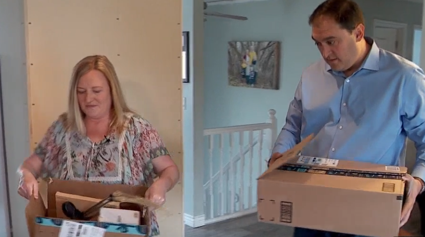 Utah woman bombarded with Amazon packages she didn't order. (Photo: KUTV)
