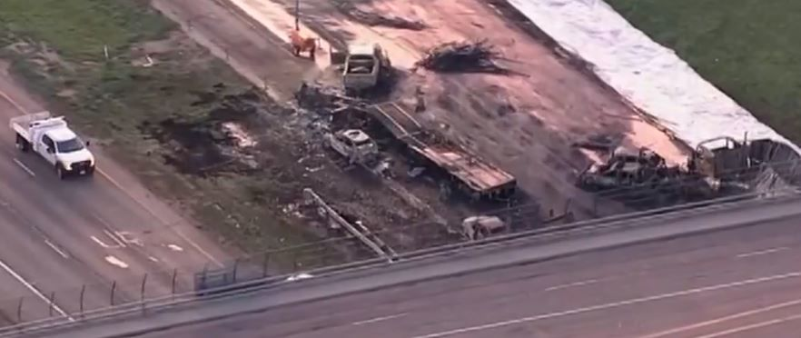 <p>A truck driver accused of causing a deadly crash in Colorado on Interstate 70 will soon stand trial. (Photo screengrab from CBS video)</p>