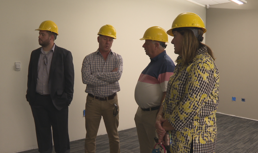 State Senator Jil Tracy, State Representative Randy Frese and city and county board members also toured the new facility. KHQA Photo{ }