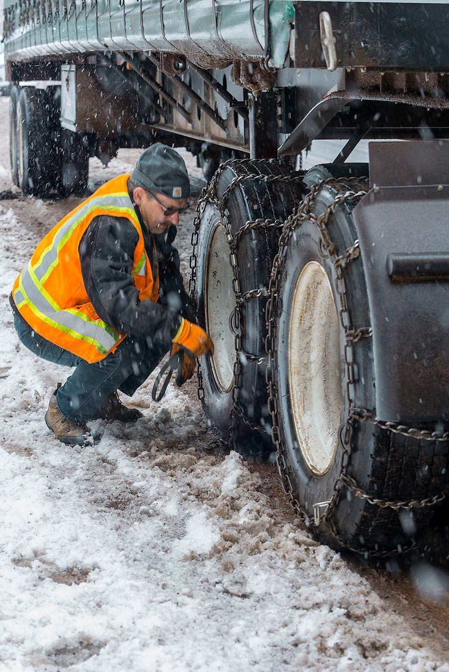 A record-setting winter storm hit southern Oregon and northern California on the Tuesday before Thanksgiving, making travel on Interstate 5 and over the Oregon Cascades difficult - if not impossible. (ODOT)