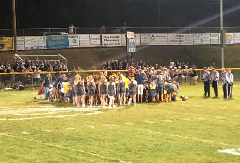Troopers say a Roane County player passed out during Friday's game at Clay and was taken to the hospital. The game has been postponed to Saturday night. (Vanessa Dunigan)