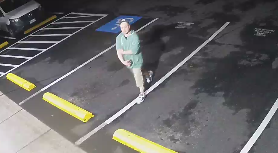 Chad West, co-president of Westraunt Concepts, shared surveillance video that shows a man in a ball cap, a green hoodie and shorts walking around the restaurant on the corner of 18th and Pearl streets in South Eugene. (Courtesy Westraunt Concepts)