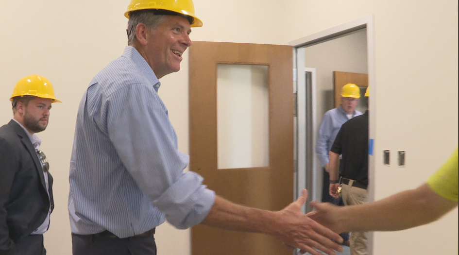 Congressman Darin LaHood from Illinois, made a stop in the Gem City Friday for a firsthand look at the new jail. KHQA Photo{ }