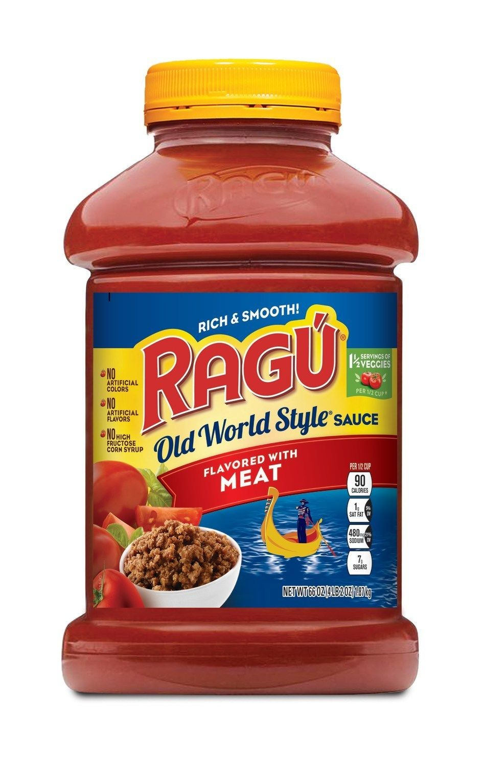 RAGU Old World Style Flavored with Meat 66oz Jar (PRNewsfoto/Mizkan America, Inc.)