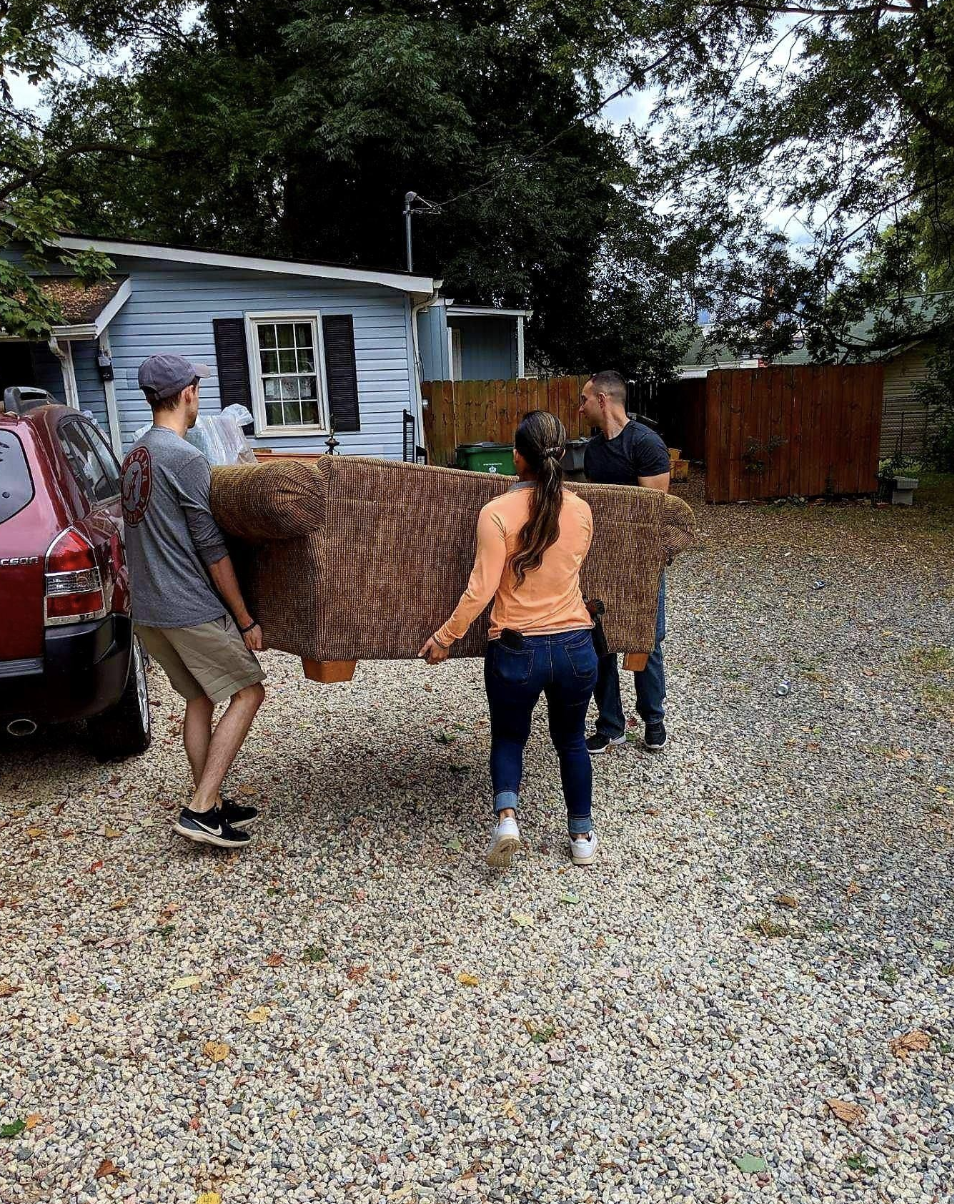 Donations were delivered on Oct. 6 and 7, 2017, to a Charlotte North Carolina family who lost nearly everything to house fire in January 2019. (Photo: Charlotte-Mecklenburg Police Department)