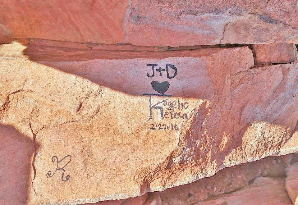 Vandalism in Snow Canyon (DNR)