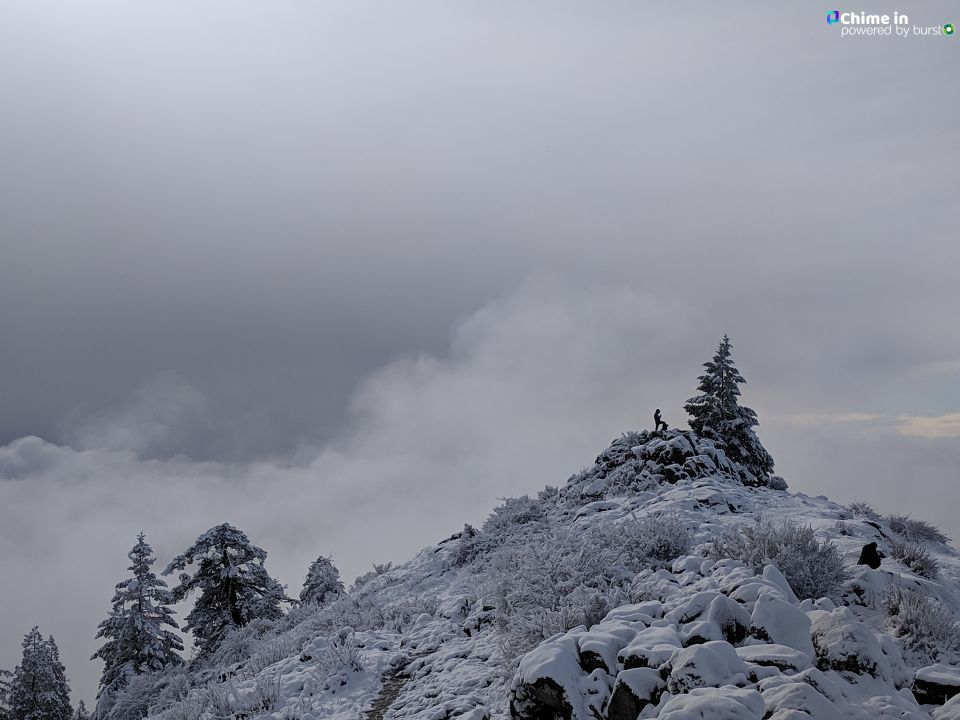 Jonathan H. Iverson shared photos from a snowy hike up Spencer Butte on Monday, February 4, 2019, via Chime In.