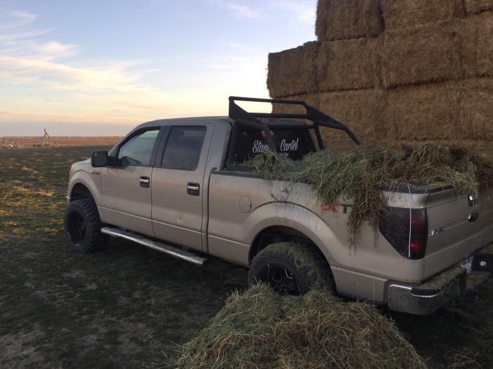 The man became trapped under a 1,500-pound hay bale at an Eastern Wash. farm. (Photo: Franklin Co. Sheriff's Office)