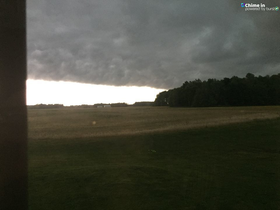 Napoleon, Indiana shelf clouds 7 am this morning from Carolyn Linville