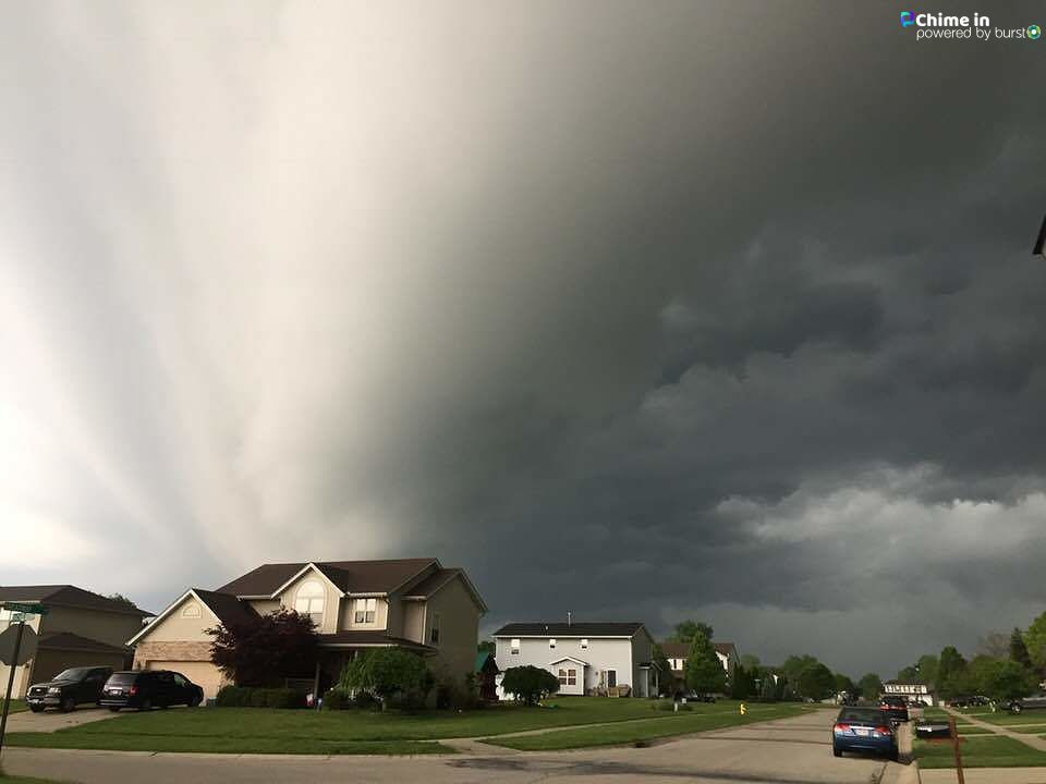 Morning Storms rolling through Fairfield Township from Lori Hunter