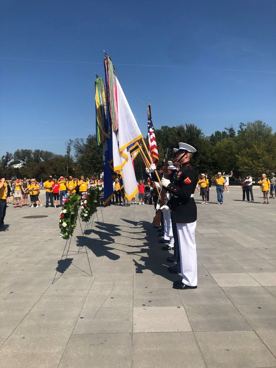 About 100 area veterans visited Washington, D.C. and the many memorials that pay tribute to their service. Photo credit: Hannah Watts