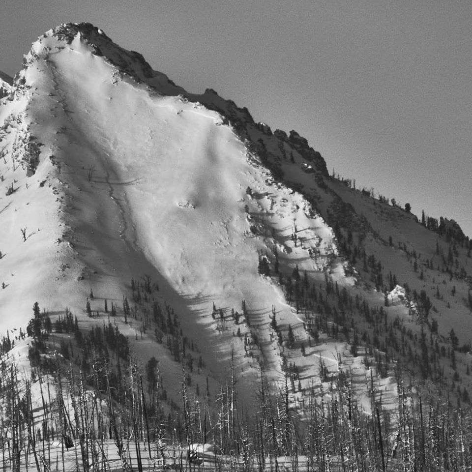 <p>A 6.5 magnitude earthquake that struck in central Idaho on Tuesday night caused little damage--and a massive avalanche. (Photo: Ben VandenBos/SAC)</p>