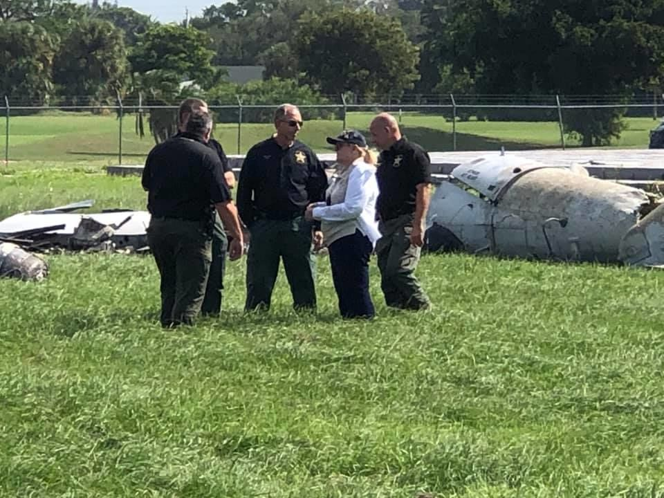 The Martin County Sheriff's Office along with the National Transportation Safety Board is investigating the wreckage after a plane crashed at Whitham Field in Stuart and killed the pilot just before the opening of the Stuart Air Show. (Martin County Sheriff's Office)