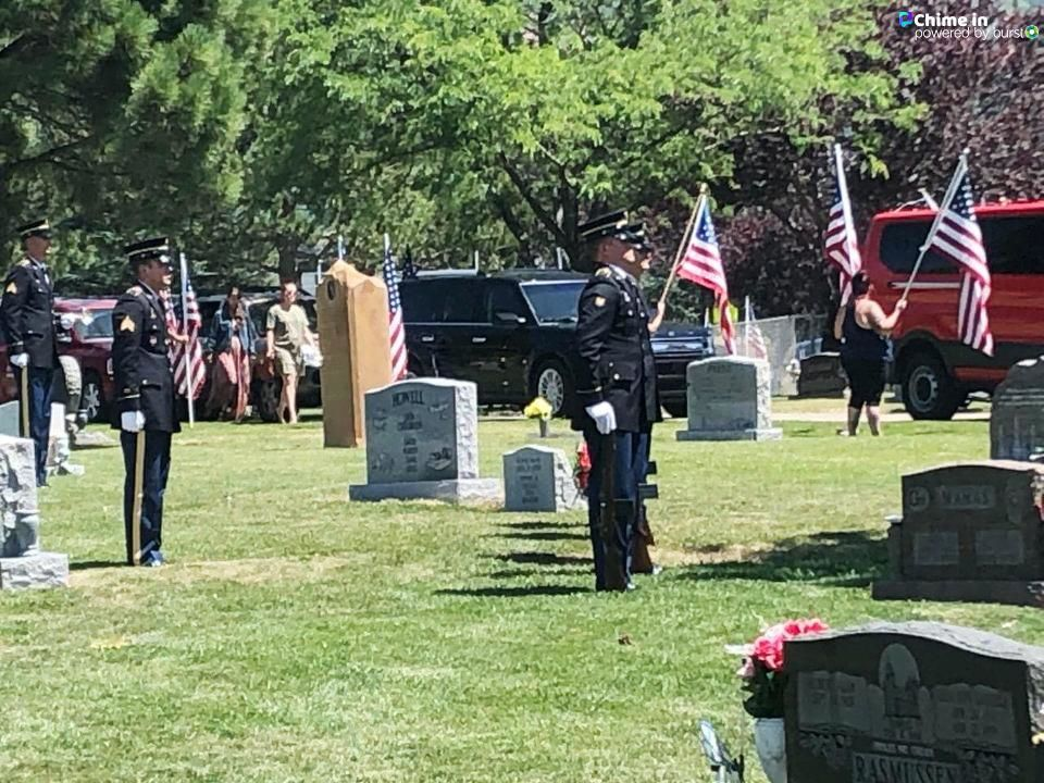 The small Utah community of North Ogden laid to rest another fallen soldier Thursday, commemorating the life and service of Sgt. 1st Class Elliott J. Robbins. He was 31. (Photo: RaeAnn Christensen / KUTV)