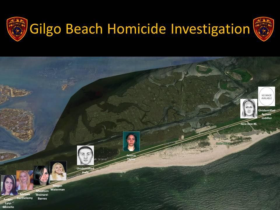Investigators stymied by a nine-year mystery following the discovery of 11 sets of human remains strewn along a suburban New York beach highway revealed a previously unreleased photograph Thursday of evidence found at one of the crime scenes that they say was handled by an unknown suspect.  (Suffolk County Police Department)