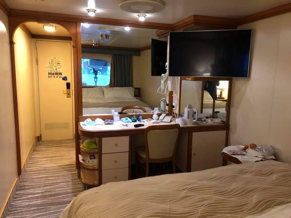 Wanda Schuler of Red Bluff is quarantined on the Diamond Princess cruise ship (photo courtesy Wanda Schuler)<p></p><p><br></p>