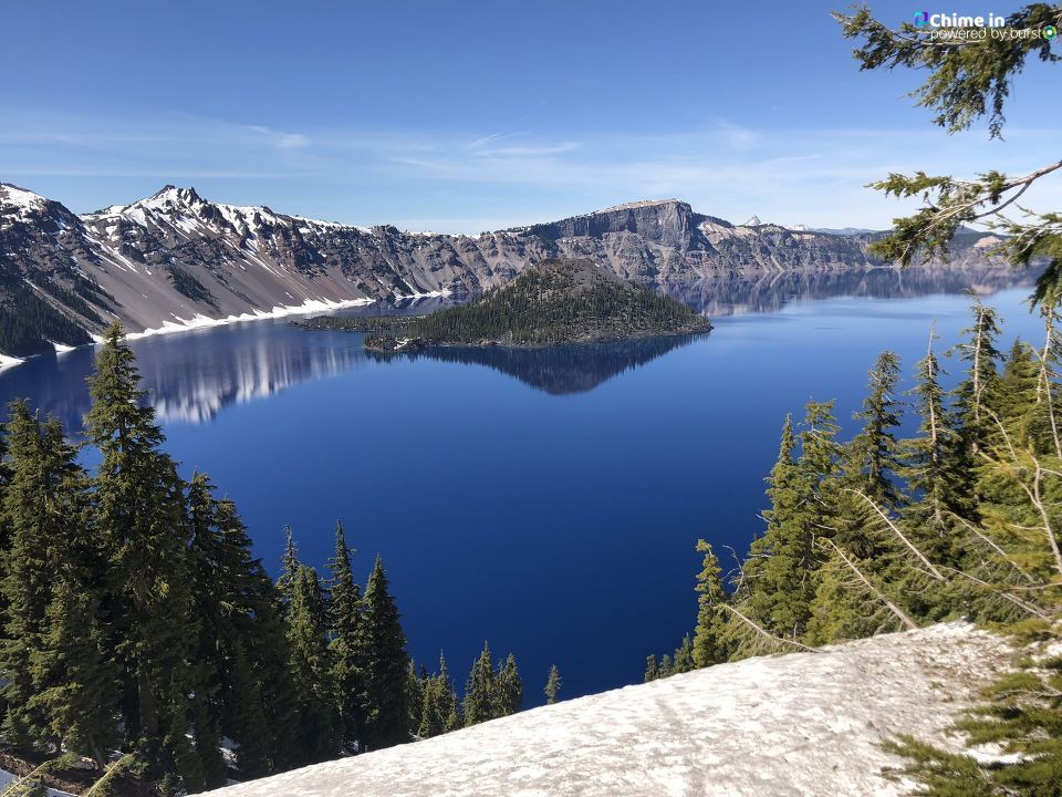 Misti Brooke Brar shared Summer Selfies from Crater Lake National Park via the Chime In tab on our website! Wherever you go this summer, we'd love it if you'd share a selfie via Chime In.