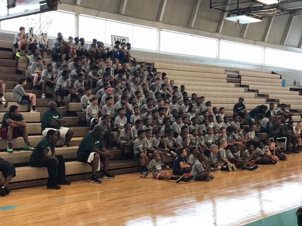 Charlotte Hornets forward and Flint native Miles Bridges returned to his hometown to give basketball lessons to youth. The Miles Bridges Basketball Camp reached capacity with 300 boys and girls at Southwestern Classical Academy on July 20, 2019. (Photo: Ron Hilliard)