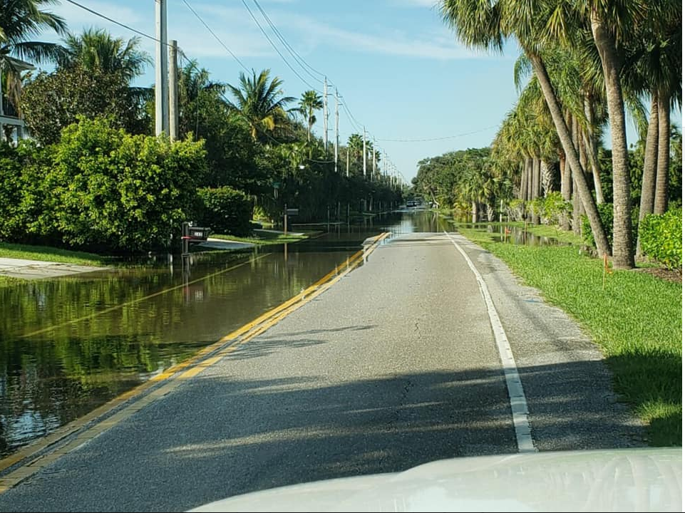 Drivers are being asked to avoid both North and Sewall's Point Road due to serious flooding.{ } (City of Sewall's Point)