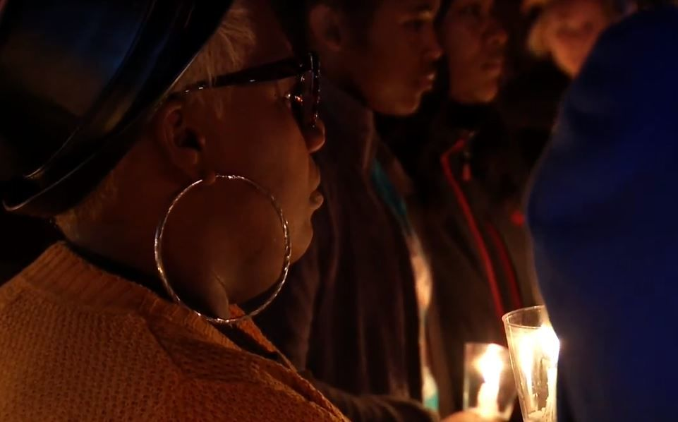 Community holds candlelight vigil in memory of Tarhiya Sledge. Photo: FOX 17 News.<p></p>