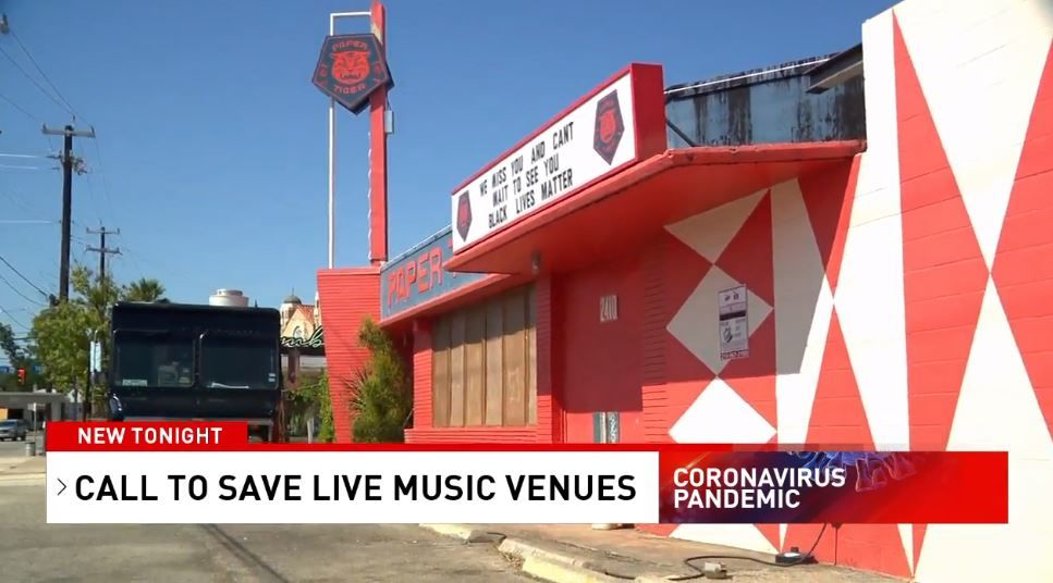 Paper Tiger on the St. Mary's Strip is one of numerous live music venues currently feeling the hurt of the pandemic shutdowns.
