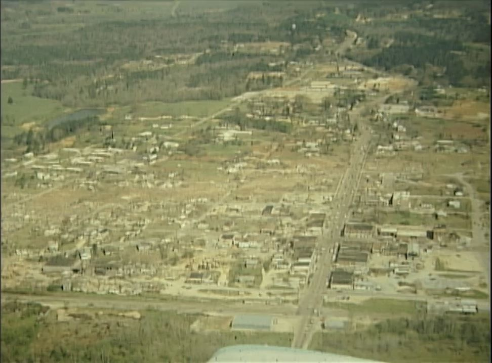 45 years ago a F-4 tornado destroyed most of Guin and killed 23 people. 148 tornadoes swept across the United States in a 24-hour period which became known as the Super Outbreak of 1974. (abc3340.com)