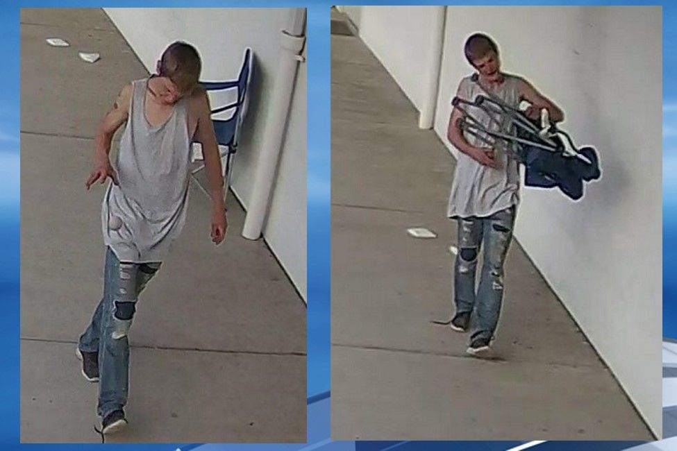 <p>Charleston police are asking for the public's assistance in identifying this man,{&nbsp;} who they say was caught on surveillance camera trespassing West Virginia Eye Consultants. (Charleston Police Department)</p>