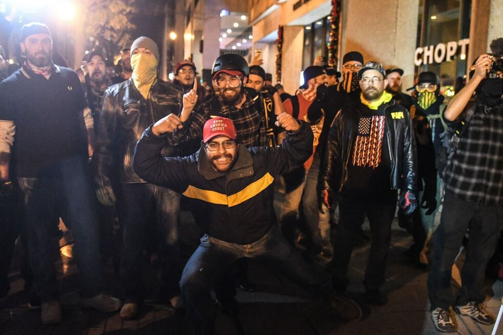 Unrest unfolds in DC following a day of pro-Trump rallies{ }
