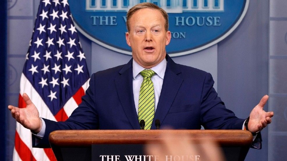"Former White House press secretary Sean Spicer is among the contestants on the next season of ""Dancing with the Stars"" (Associated Press)<p></p>"