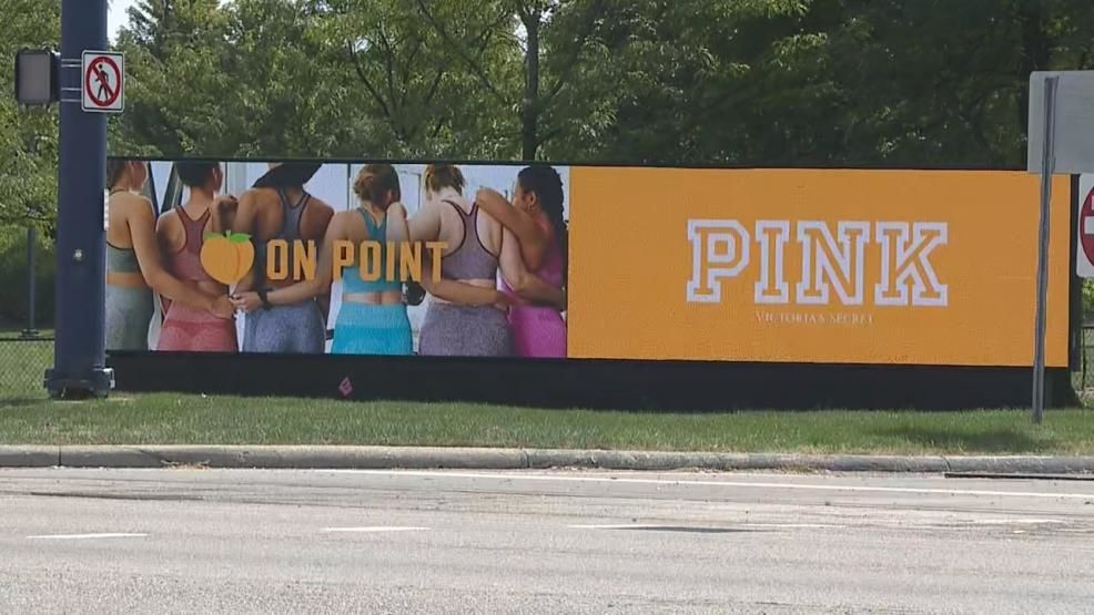 """PINK"" sign at L Brands campus in Columbus, Ohio Sept. 9, 2019. (WSYX/WTTE)"